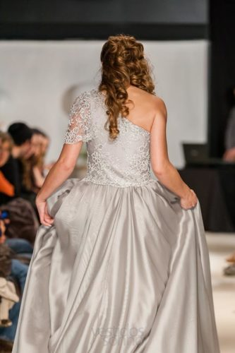 Vestido de noiva cinza